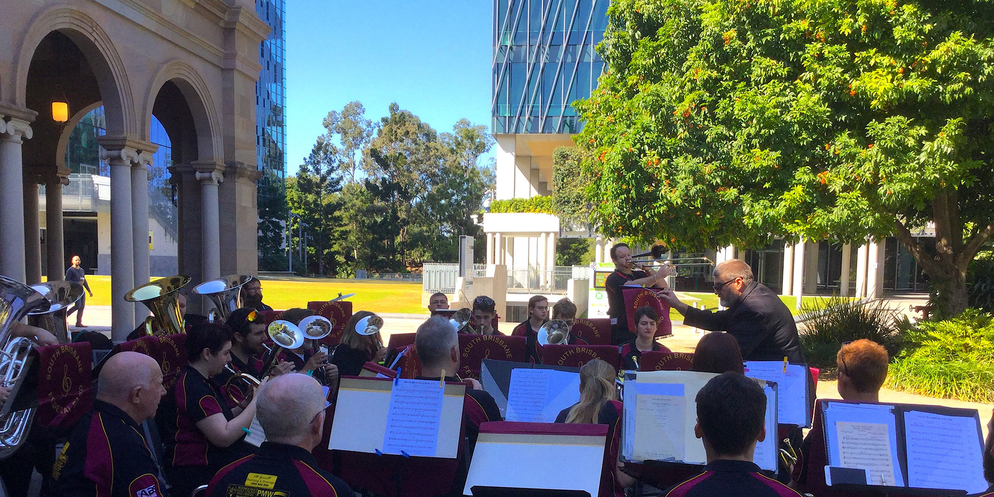 South Brisbane Federal Band at Old Government House